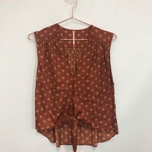 Free People sleeveless blouse size xs